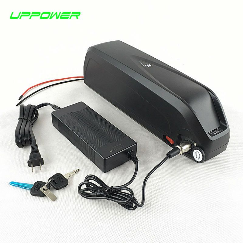 US EU No Tax New Shark case 14S Sanyo cell 51.8V 52V 17.5Ah Li-ion Battery 48V 1000W Electric Fat Bike Hailong Battery