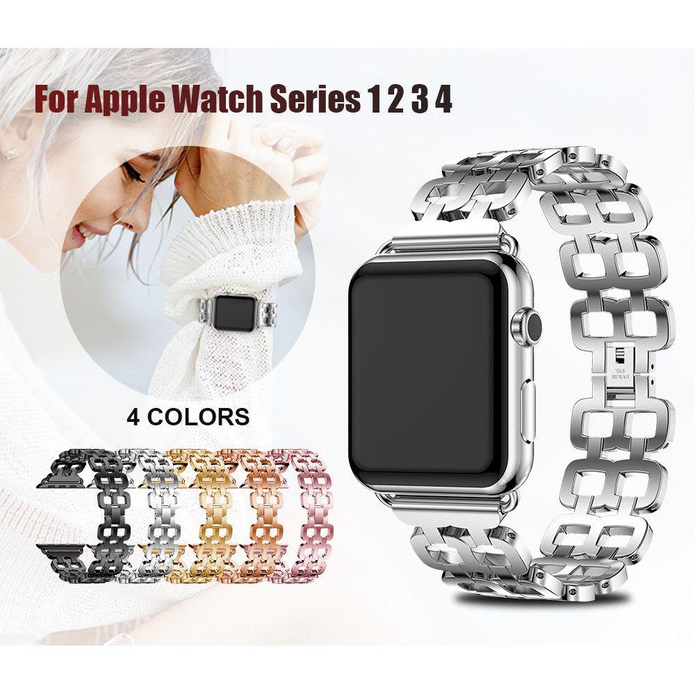 Bracelet de montre en acier inoxydable pour Apple Bracelet de montre 42mm 44mm Bracelet en métal pour Apple Watch 38mm 40mm série 4 3 2 1 montre Bracelet