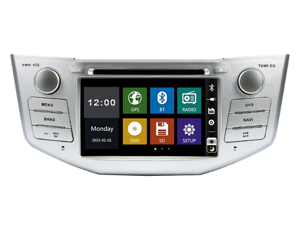 7 Auto-DVD-spieler mit GPS (optional) CANBUS BT/TV, USB/SD, audio Radio stereo, auto multimedia headunit für TOYOTA LEXUS RX330/RX350