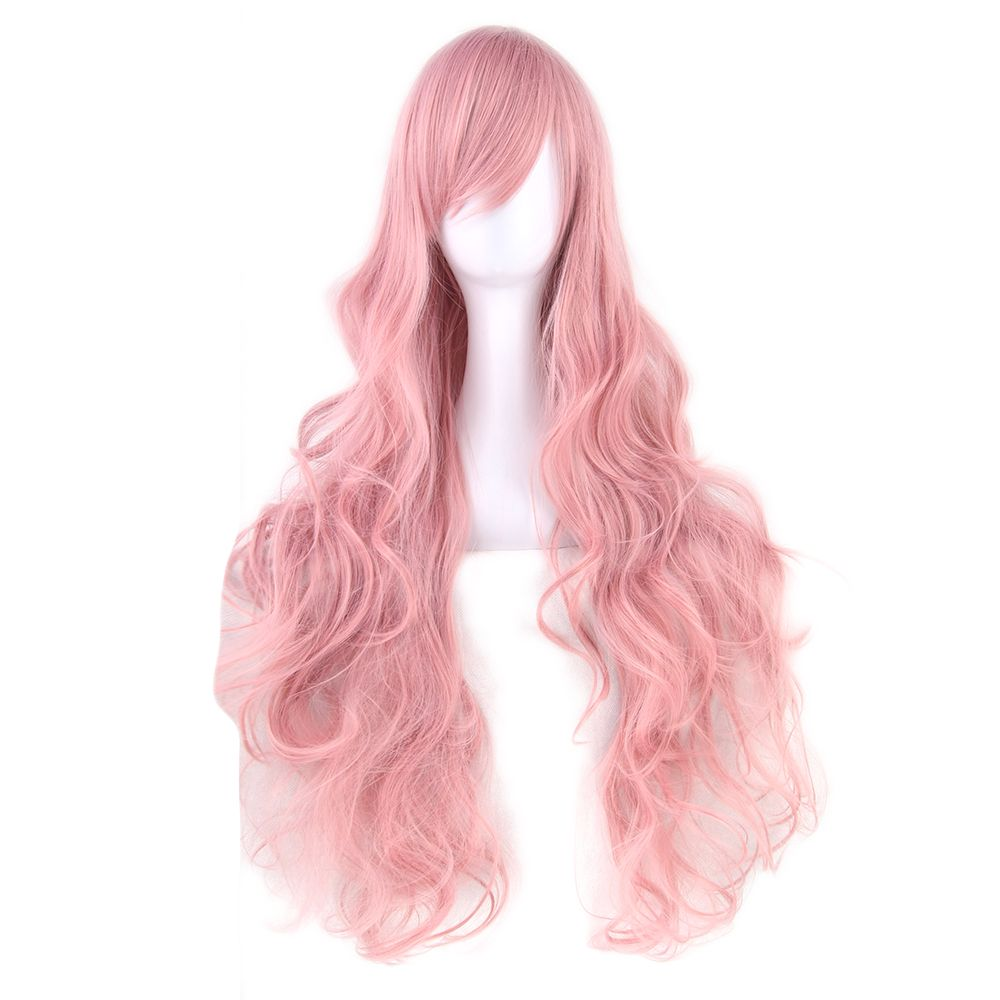 Soowee 20 Colors Wavy Long Wig Hairpiece High Temperature Fiber Synthetic Hair Pink Black Women Party Hair Cosplay Wigs