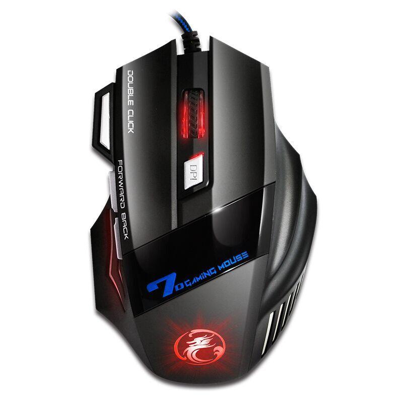 Professionnel Filaire Gaming Mouse 5500 DPI Silencieux Mause 7 Boutons câble usb led Optique Gamer souris pour pc jeu d'ordinateur Souris X7