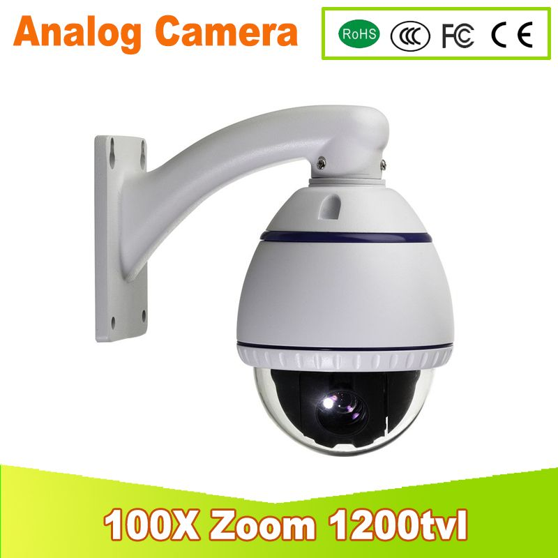 YUNSYE 2017 New CCTV Security Home 360 Degree Rotate 100x Optical Zoom Array IR Indoor Mini Speed PTZ Camera Free Shipping