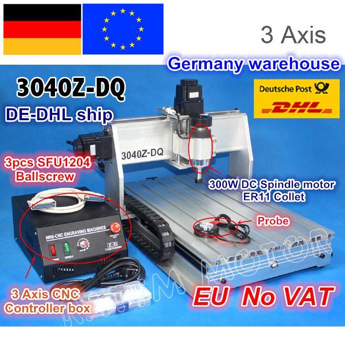 DE schiff/Freies MEHRWERTSTEUER NEUE 3 Achse 3040Z-DQ 300 watt Ball schraube CNC ROUTER GRAVEUR/GRAVUR BOHREN/ fräsen Schneiden maschine 220 v/110 v