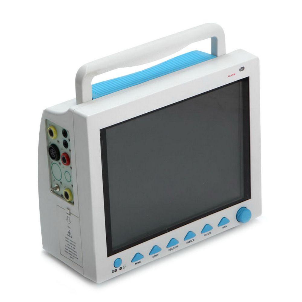 Contec CMS8000 6-Parameter TEMP, Pulse Rate, Respiration, ECG, SPO2, NIBP Digital ICU Patient Vital Signs Monitor +Printer