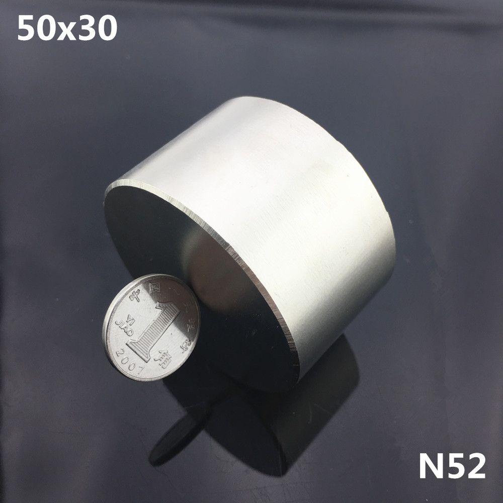 1 pc N52 aimant 50x30mm puissant aimant néodyme rond permanent Super forte terre Rare magnétique NdFeB 50*30mm métal gallium
