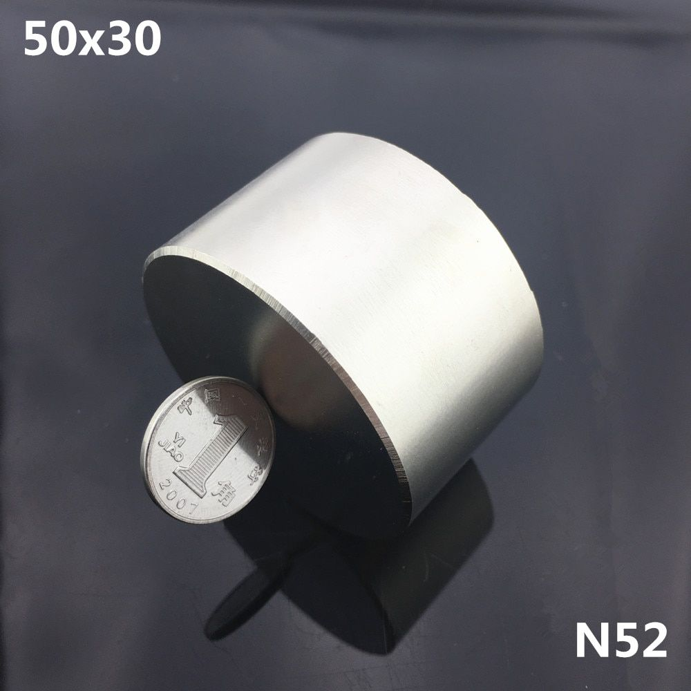 1pc N52 magnet 50x30 mm Powerful permanet round Neodymium Magnet Super Strong magnetic Rare Earth NdFeB 50*30mm gallium metal