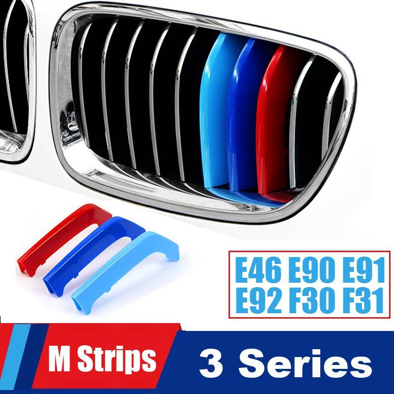 Nice Grill M Performance Strips For BMW 3 series E46 E90 E91 E92 E93 F30 F31 F34 Accessories Grille Stripes Motorsport Stickers