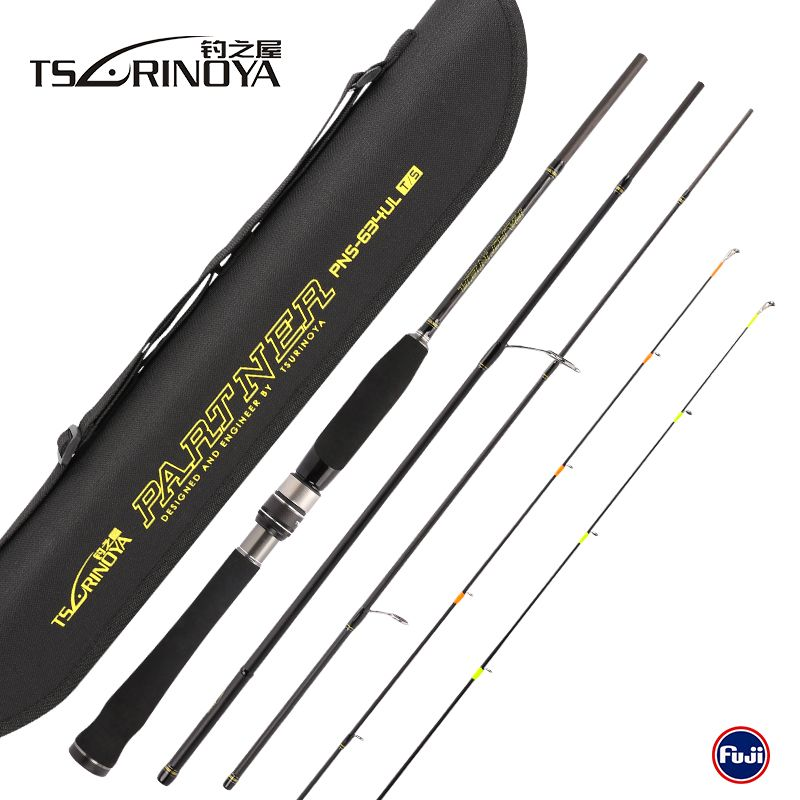 Tsurinoya PARTNER 4Sec Spinning Fishing Rod 2 Tips 1.89m UL 2-7g/4-10lb Carbon Lure Rods Vara De Pesca Canne A Peche Olta Tackle