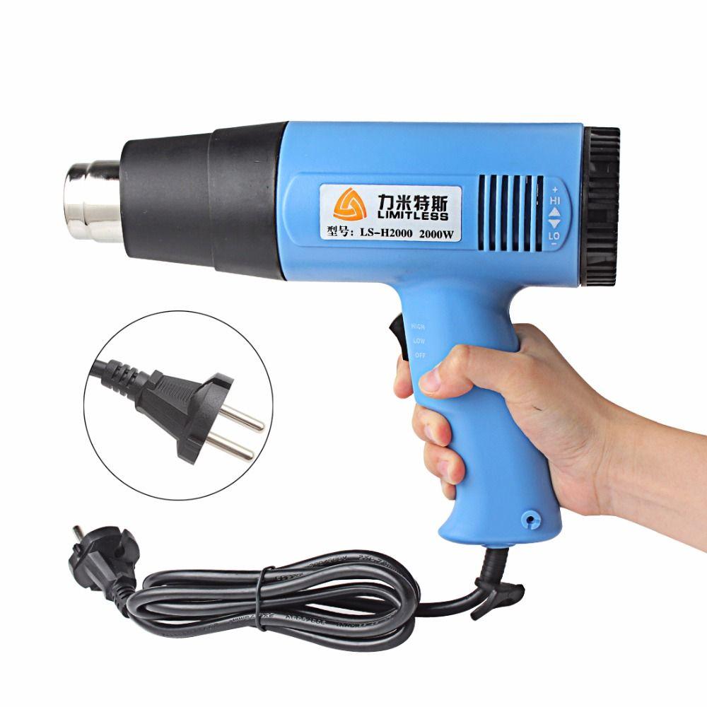 US EU Plug Temperature Adjustable 1500W 2000W Industrial Electric Heat Gun Handheld Hot Air Gun for Wallpaper Paint Stripping
