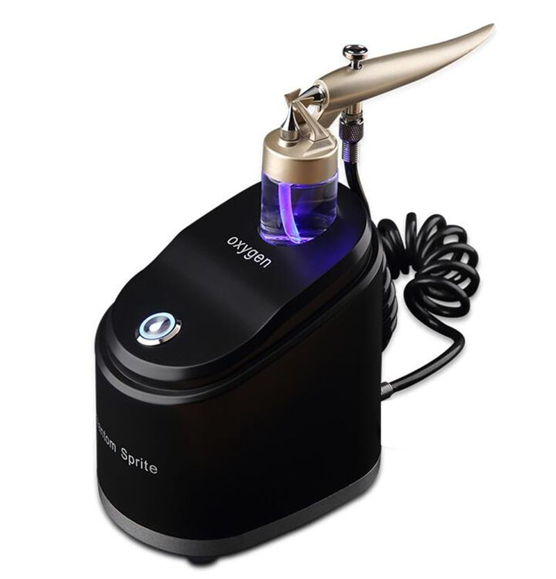 LED Oxygen Airbrush Facial Beauty Equipment SPA Airbrush Compressor Kit Water Oxygen Skin Rejuvenation Machine Y