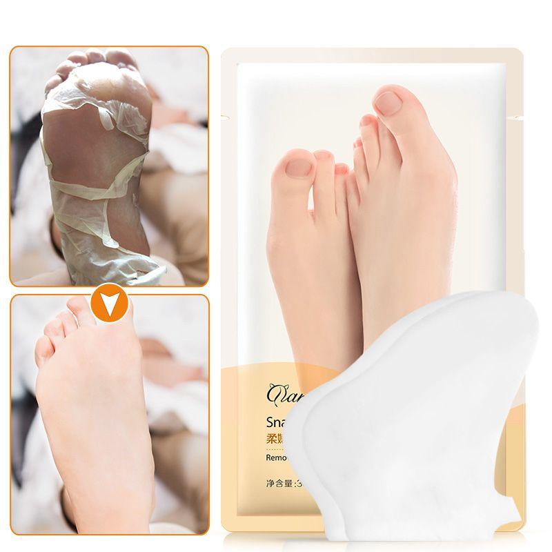 1Pack=2pcs Snail Extract Peeling Exfoliating Foot Mask for Leg Feet Heel Dead Skin Cuticle Remove Skin Pedicure Socks Spa