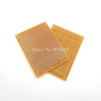 10 PCS/LOT Prototype Papier Cuivre PCB Expérience Universelle Circuit Matrice 5x7 cm