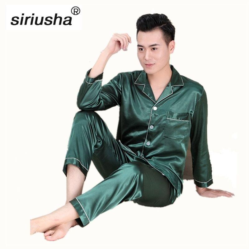 Seide Hohe Qualität Pyjamas Sets Silk Pyjama set Langen Ärmeln startseite Bekleidung Für die Junge Liebhaber Geeignet für Alle Jahreszeiten s02