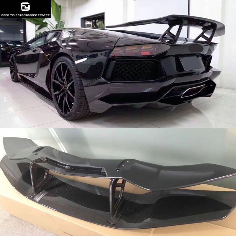 Heißer verkauf LP700 Carbon Fiber Heckspoiler Flügel für Lamborghini Aventador LP700 DMC stil 2015