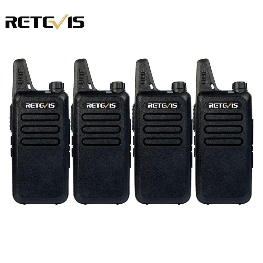 4pcs Handy Walkie Talkie Retevis RT22 2W 16CH UHF 400-480MHz CTCSS/DCS VOX Scan Ham Radio Hf Transceiver Portable 2 Way Radio