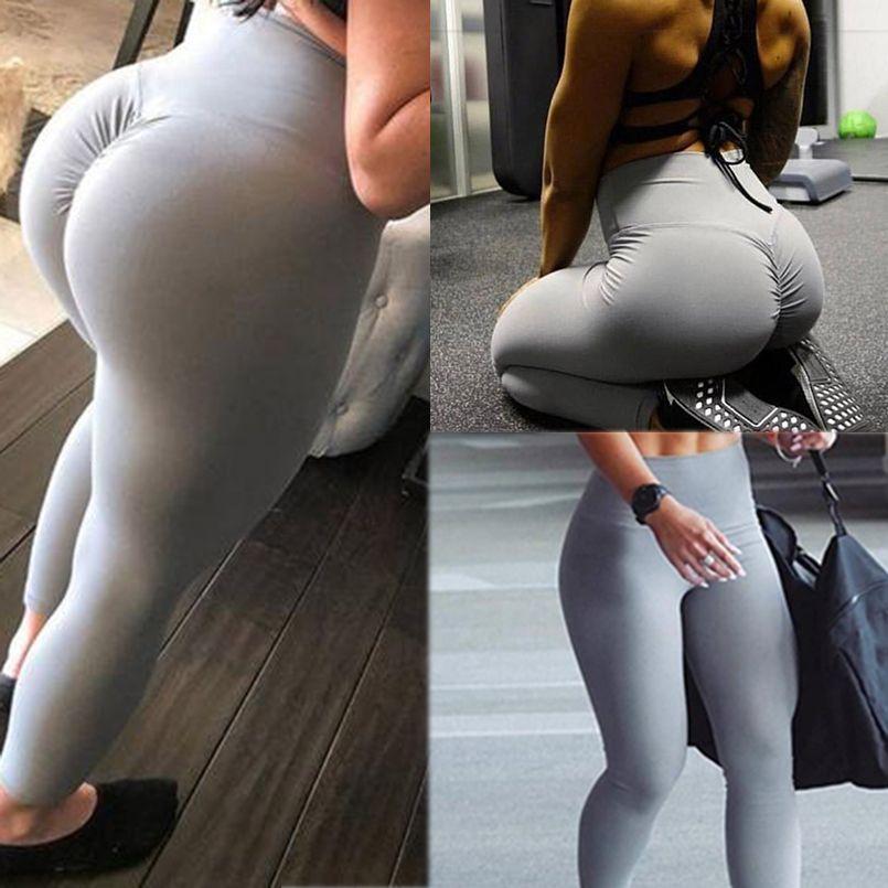 Gym leggings Sport Femmes Remise En Forme De Yoga pantalon Taille Haute Entraînement Leggins Scrunch Butt Lift vêtements de Sport Hanches pantalon mujer