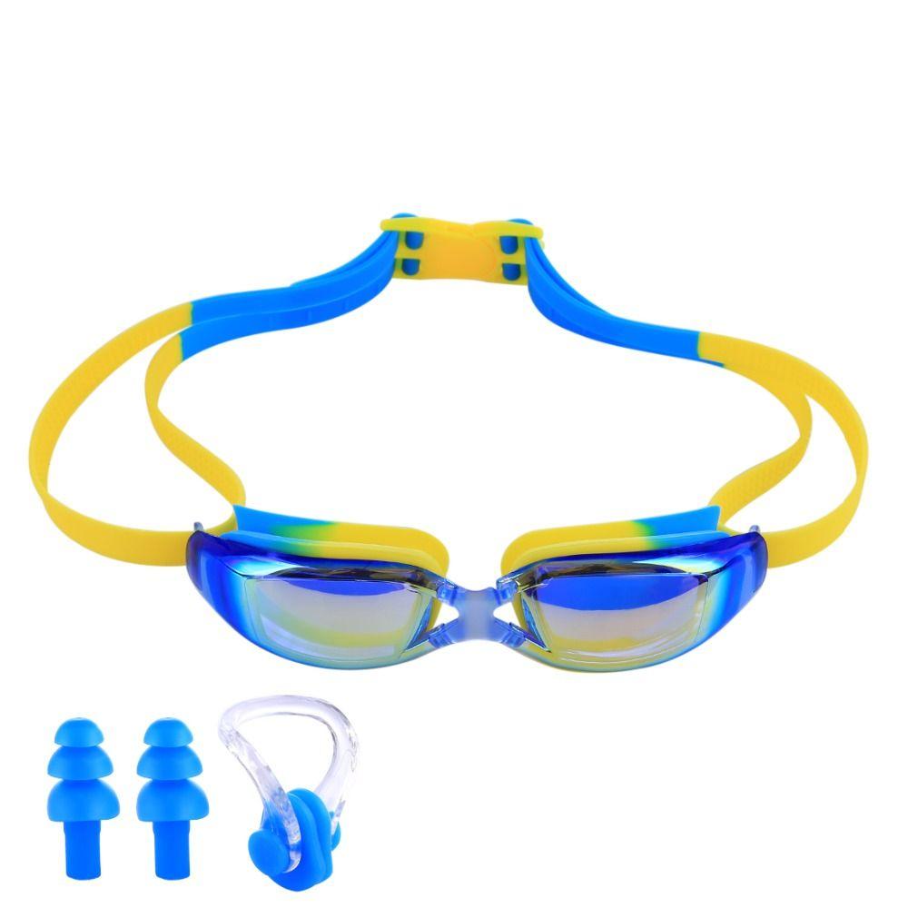 UV Protection Enfants Imperméables Lunettes De Natation Anti-brouillard Lumières Lentille Silicone Cadre Enfant Lunettes De Natation Piscine Accessoires Lunettes