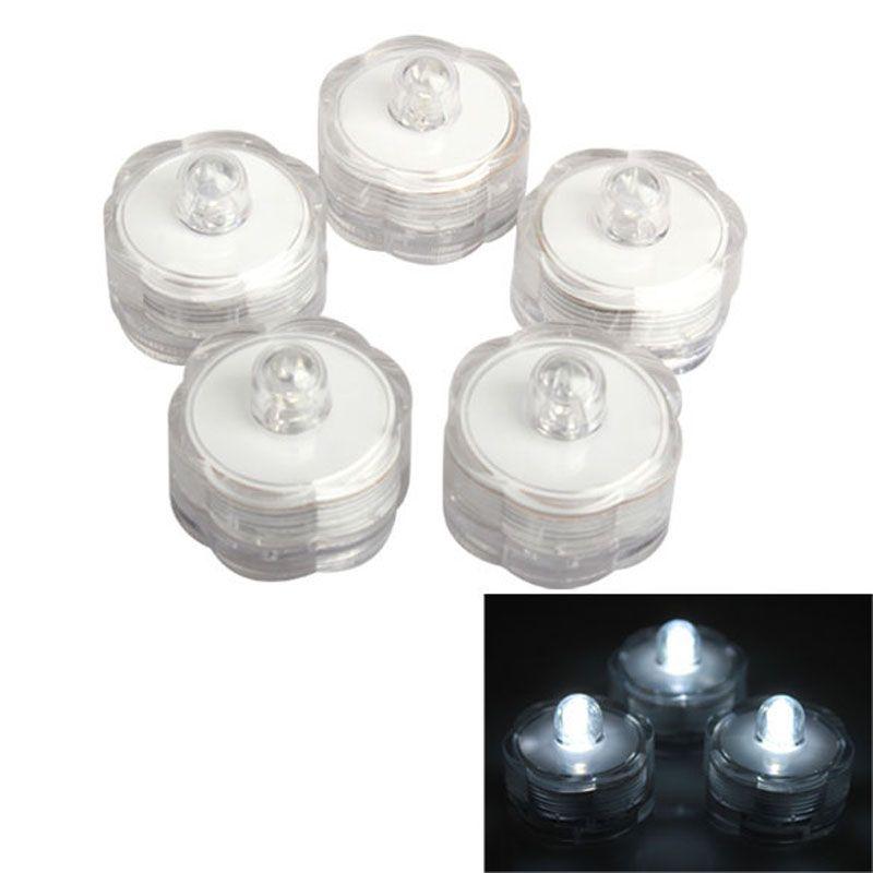 12pcs/lot Super Bright Submersible Waterproof Mini LED Tea Light Candle Lights For Wedding Party Deocration Vase Light