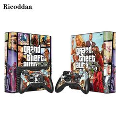 GTA-V Vinyl Decal Skin Stickers for Microsoft Xbox 360 E and 2 Controller Skins Stickers for XBOX360 SLIM E Game Accessories