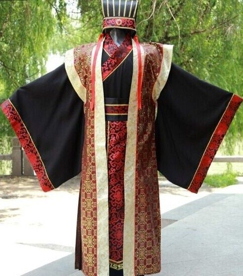 Han Chinese clothing costume costume male courtiers robes Three Warring States Qin Dynasty in ancient costumes