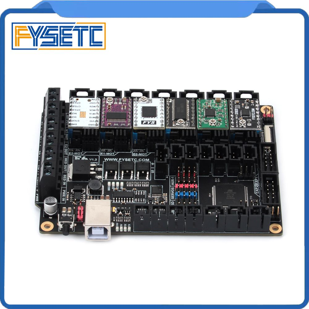 FYSETC F6 V1.3 Board ALL-in-one Electronics Solution Mainboard + 6pcs TMC2100/TMC2208/TMC2130/DRV8825/S109/LV8729/A4988/ST820
