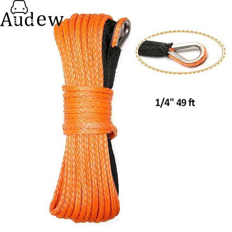 Car Emergency Trailer Belt 7000lbm Vehicle Winch Cable Synthetic SUV Recovery Replacement Towing Rope Outdoor Accessories