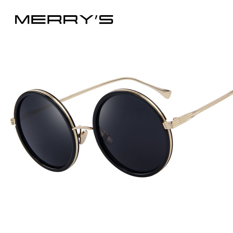 MERRY'S Fashion Women Round Sunglasses Brand Designer Classic Shades Men Luxury Sunglasses UV400