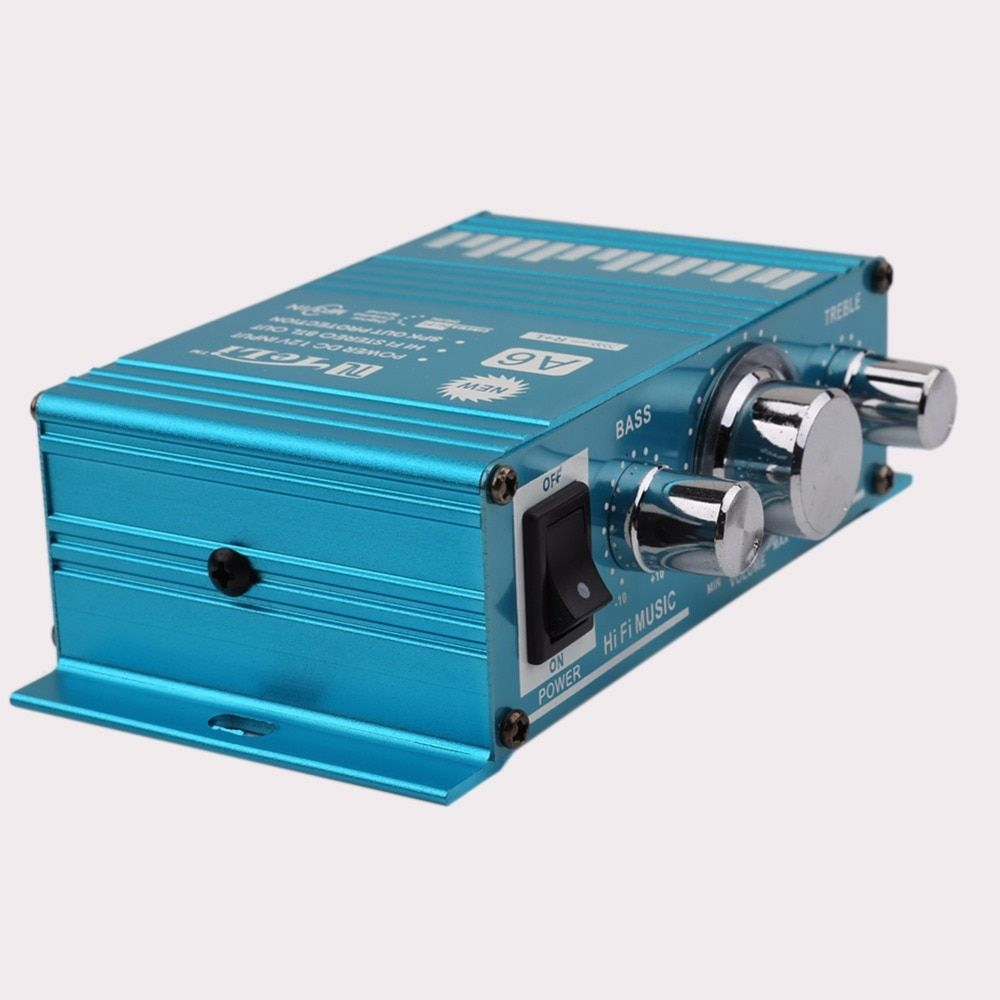 TELI-A6 Mini Hi-Fi Stereo Audio Mono Amplifier Car Auto Motorcycle Home Audio Stereo Bass Speaker Amplifier Boostrer Player 12V