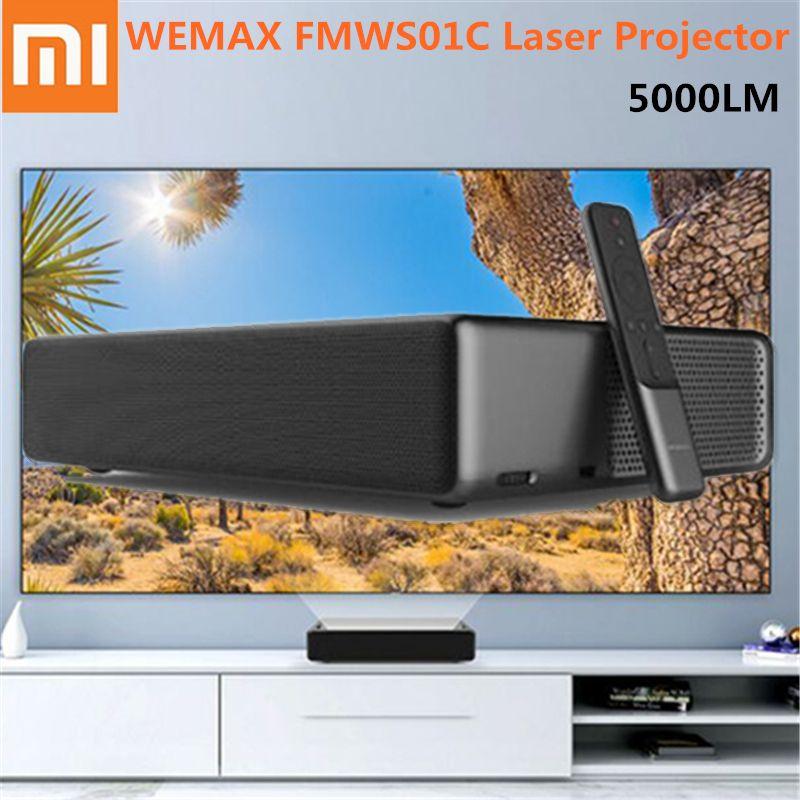 Xiaomi WEMAX Laser Projektor ALPD Projektor HD 4 K 1920x1080 P 5000 Lumen Voice Control Android 6.0 150 Zoll heimkino
