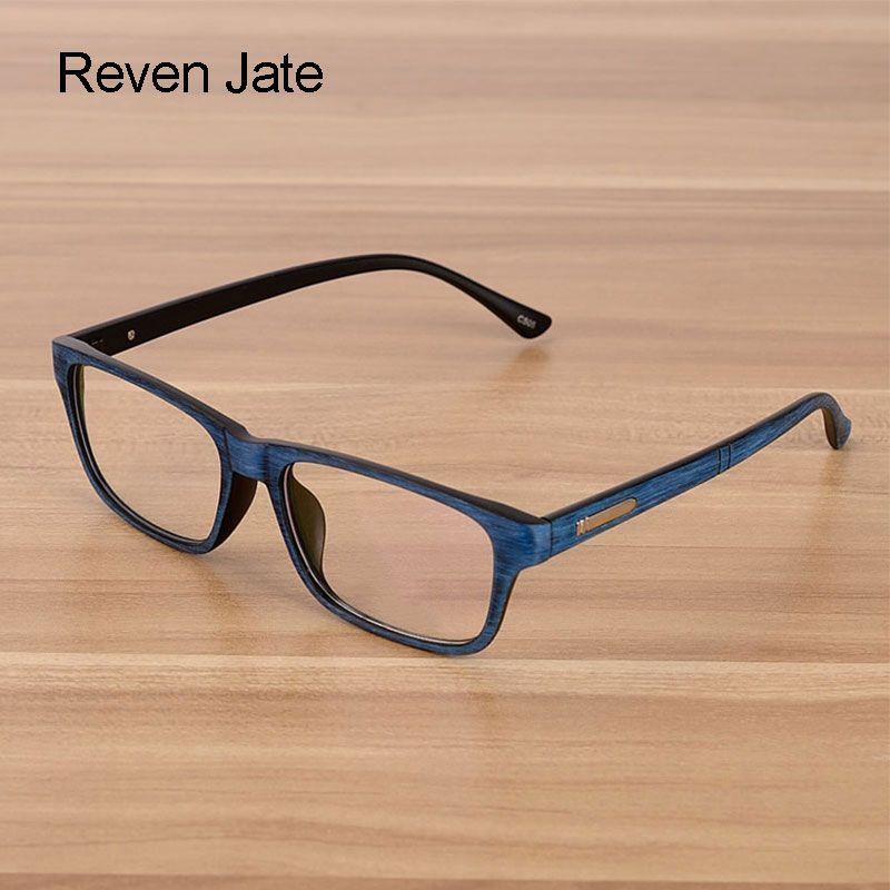 Reven Jate lunettes hommes et femmes unisexe modèle en bois mode rétro optique lunettes lunettes cadre Vintage lunettes