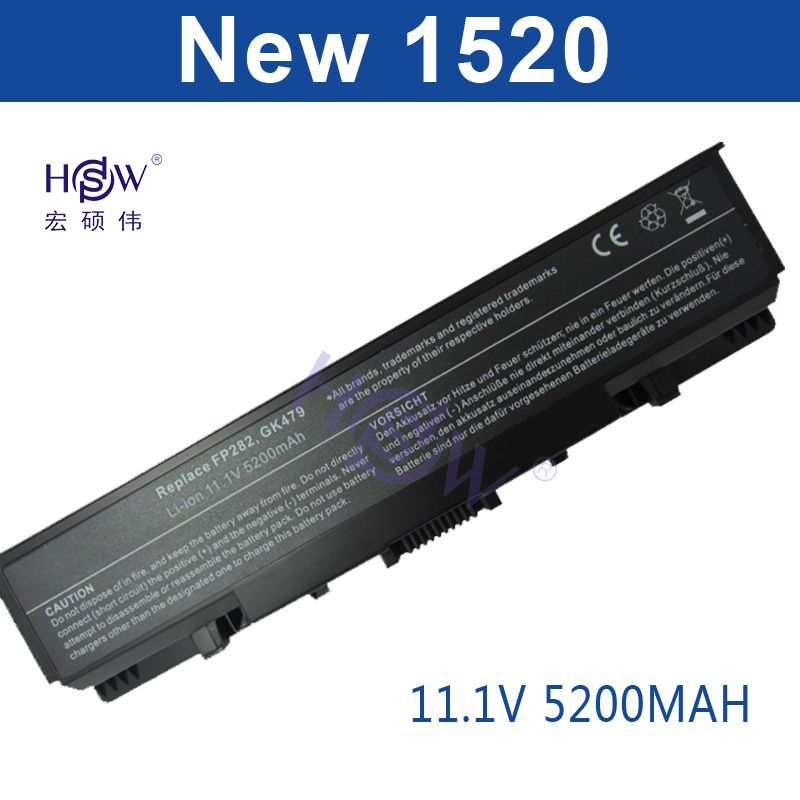 HSW batterie d'ordinateur portable pour Dell Vostro 1500 1700 Pour Inspiron 1520 1521 1720 1721 GK479 GR995 KG479 NR222 NR239 TM980 FK890 batterie