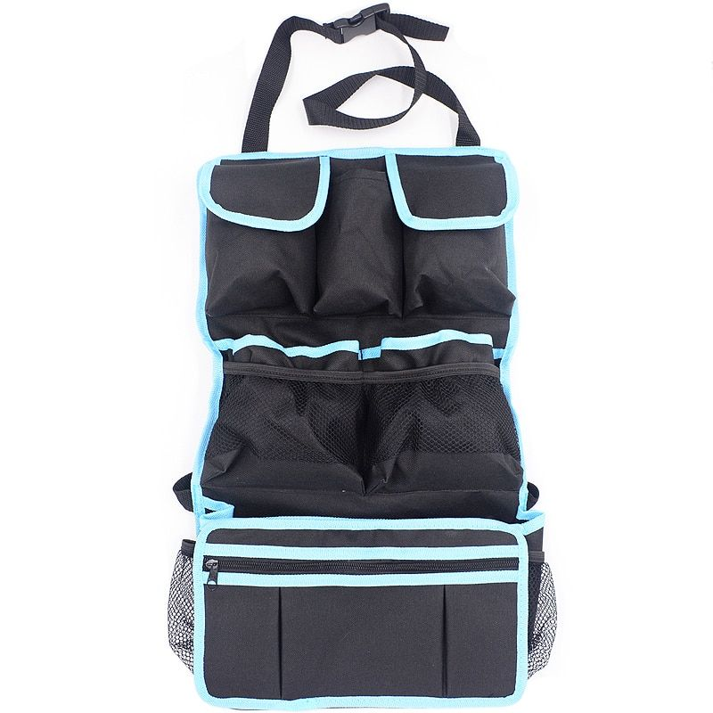 Car Seat Back Organizer Backseat Storage Bag Car Seat Protection Net Holder Multi-Pocket Travel Car-Styling Internal Accessory
