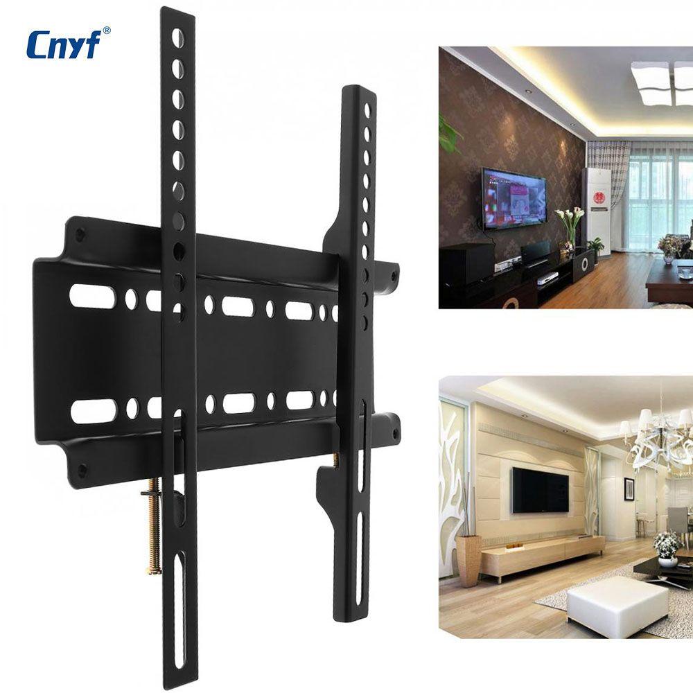 Support mural TV support fixe écran plat TV cadre de télévision pour écran plat 12-37 pouces LCD moniteur LED