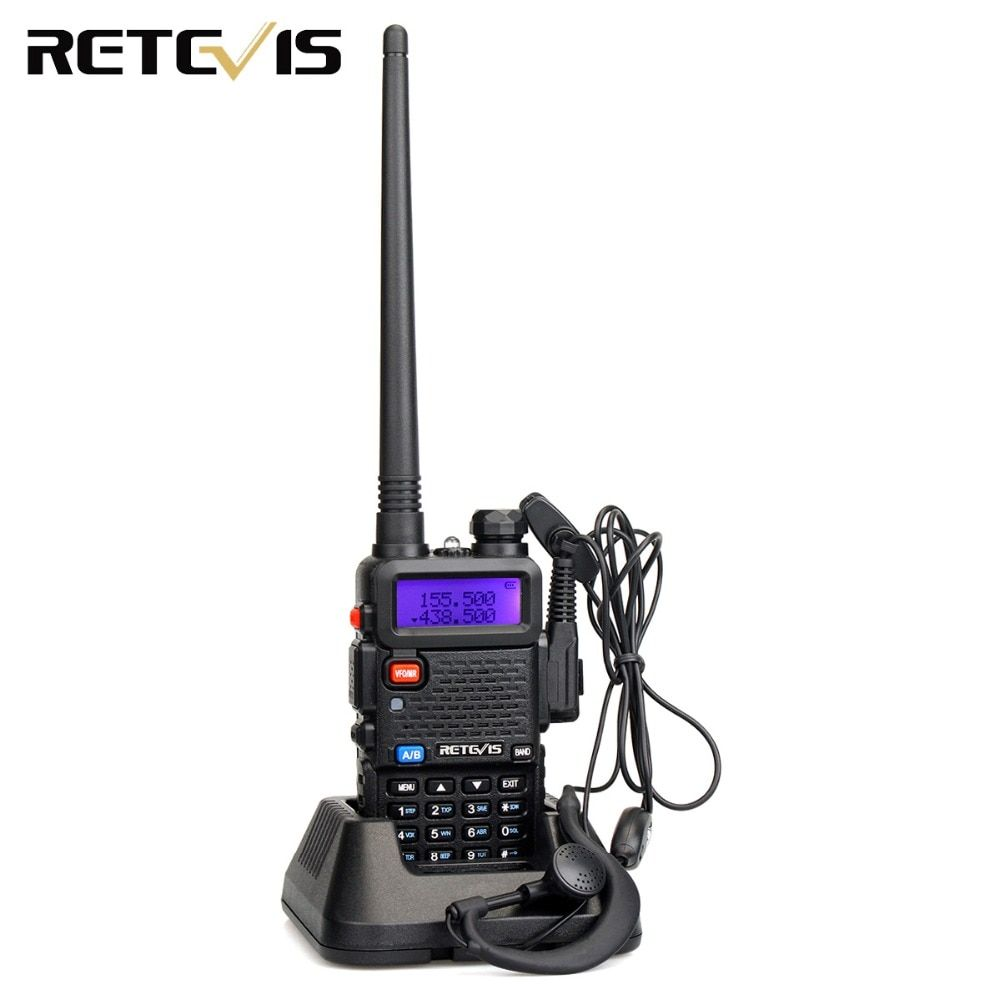 Handy 5W Walkie Talkie Retevis RT-5R VHF UHF 136-174&400-520MHz VOX FM Portable Ham Radio Two Way Radio Hf Transceiver RT5R