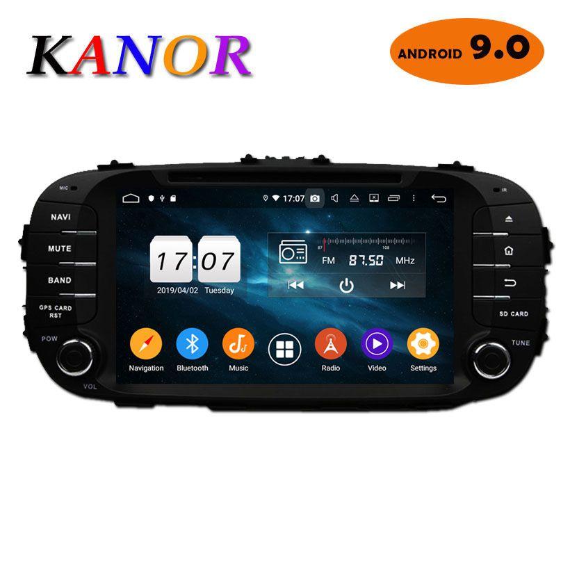 Android 9.0 IPS Octa Core 4 + 32g 2din voiture GPS Navigation pour KIA Soul 2013 2014 avec GPS Muletimedia stéréo Bluetooth Audio