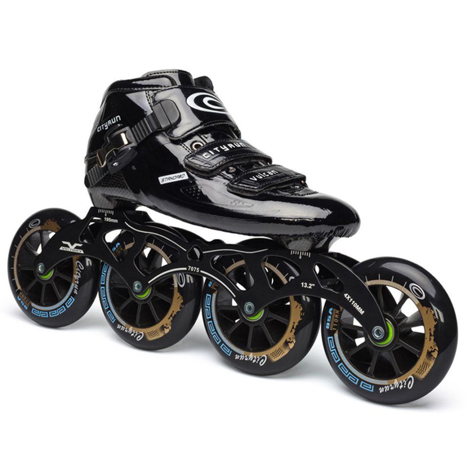 Japy Cityrun Geschwindigkeit Inline Skates Kohlenstoff Faser Professionelle Wettbewerb Skates 4 Räder Racing Skating Patines Ähnliche Powerslide