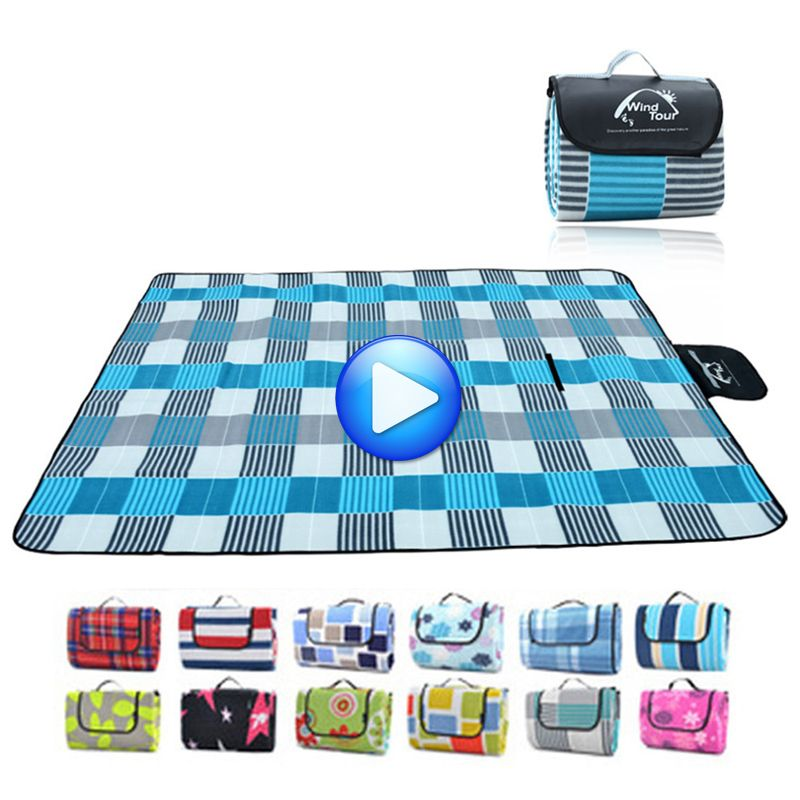 Outdoor Foldable Camping Mat Sandless MAT Climb Plaid Crawling Blanket Picnic Mat Waterproof Blanket Sand Free Beach Mat