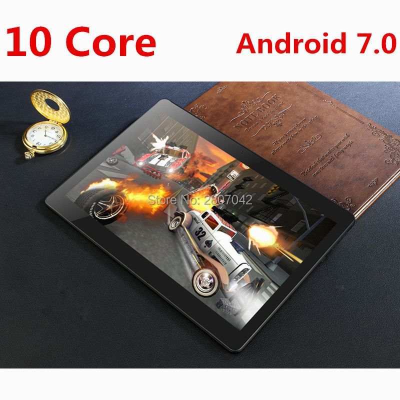 Heiße Neue 10 zoll tablet 3g 4g FDD LTE Anruf Deca Core 4 gb RAM 128 gb ROM Android 7.0 OS 1920*1200 IPS GPS tablet 10 10,1