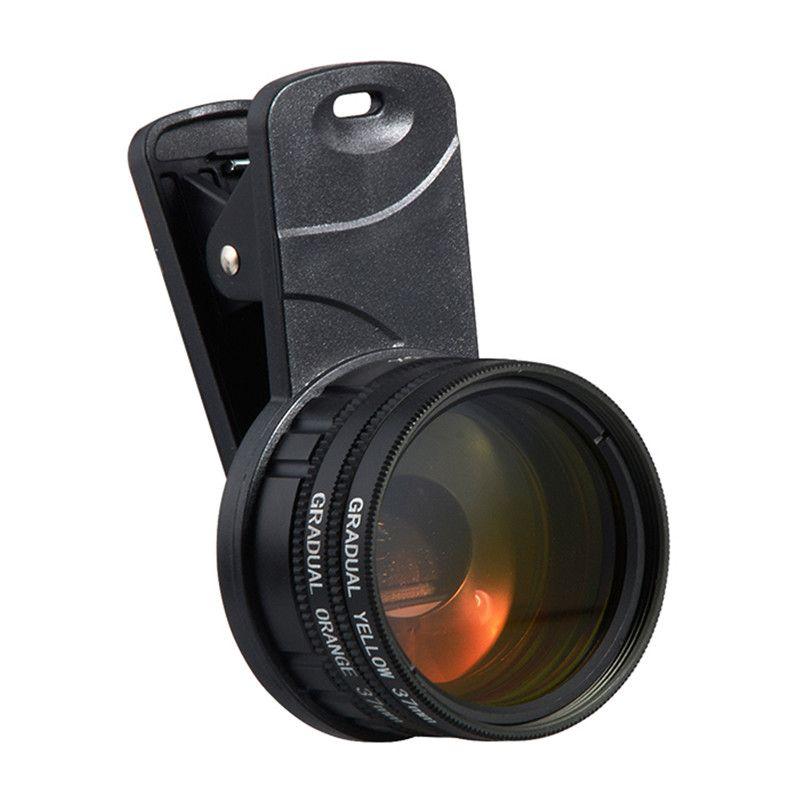 Plastic Aquarium Fish Tank Coral Reef Lens Phone Camera Filters Lens + 1 Macro Lens Fish Aquatic Terrarium Accessories Gadgets