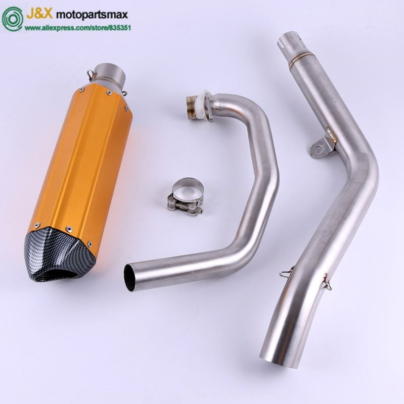 Motorcycle exhaust Muffler contact middle Link pipe for HONDA CB190F Slip-On without exhaust