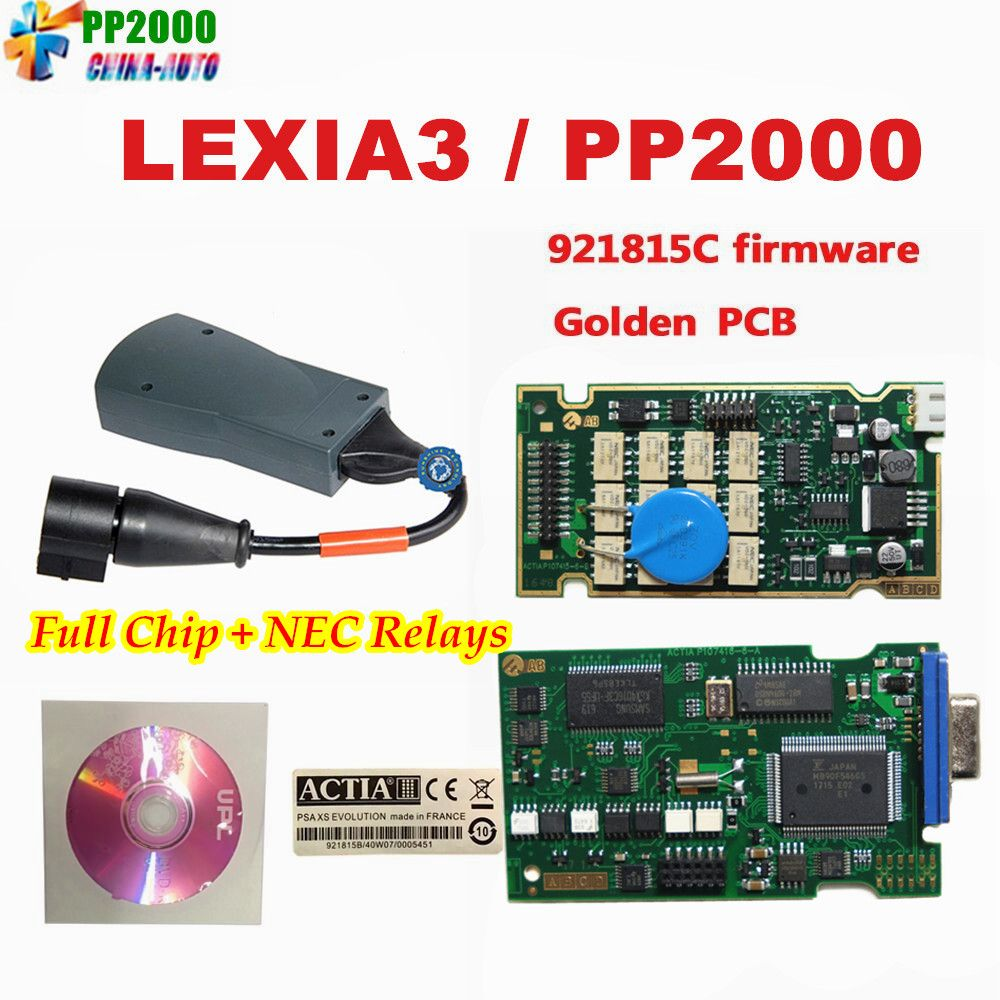 10pcs/lot Top Lexia 3 Full Chip Diagbox V7.83 Lexia3 pp2000 V48 diagnostic For C--itroen P--eugeot With Newest Diagbox