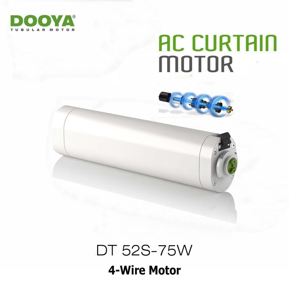 Dooya DT52S Electric Curtain Motor 220V 50HZ Open Close Window Curtain Track Motor Smart Home Motorized 75W 4 Wire Strong Motor