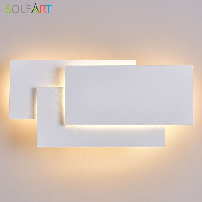 LED Wall Lamps Wall Mounted Sconces Modern Wall Sconce Lustre Aluminum Painted White Black Wall Light
