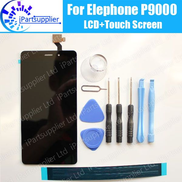 Elephone P9000 LCD Display+Touch Screen 100% Original LCD Digitizer Glass Panel Replacement For Elephone P9000 +tools+adhesive
