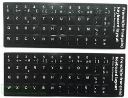2 pcs/lot Français Clavier Autocollant Franch AZERTY Pour ordinateur portable de bureau claviers Autocollants 11.6 12 13.3 14 15.4 17.3 pouce clavier