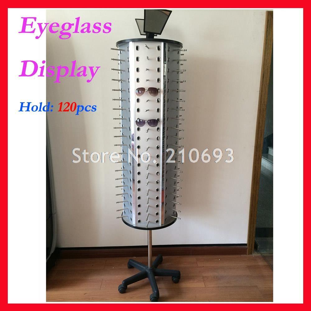FD1013 tenir 120 pièces nouveau présentoir de lunettes de soleil rotatif