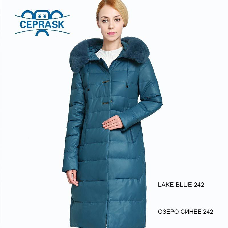 2018 New Winter Jacket Women Really Fur Plus Size Long Hoodie Warm Winter Coat Womens Biological-Down Female Parka 6XL CEPRASK