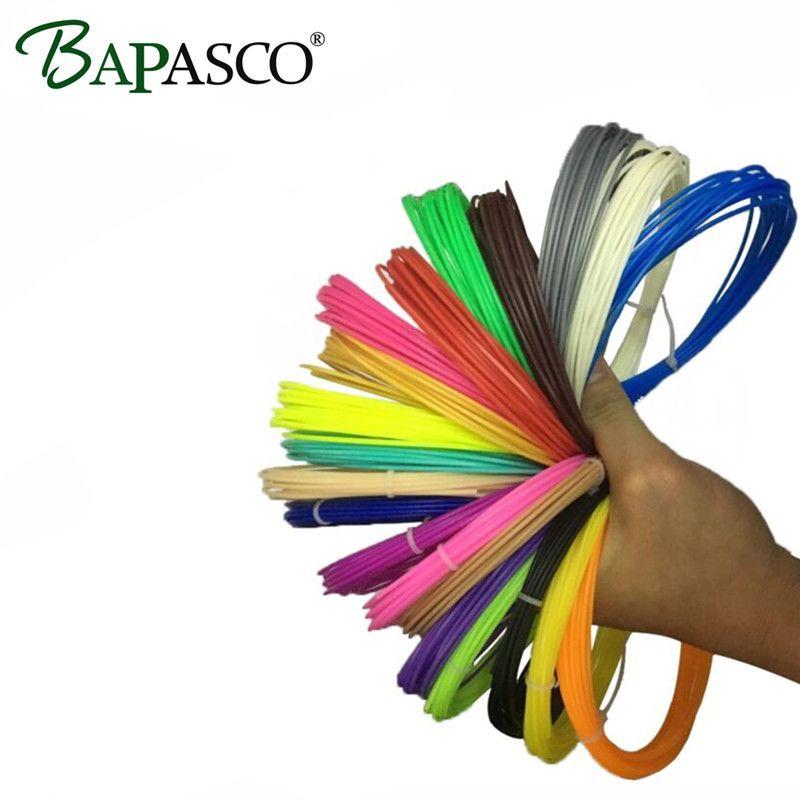 New Original BAPASCO 10 Couleur Ou 15 Couleur ou 20 Couleur/Set ABS Filaments 1.75mm Fournitures Pour 3D Stylo Et 3D Imprimante 5 mètre/Couleur