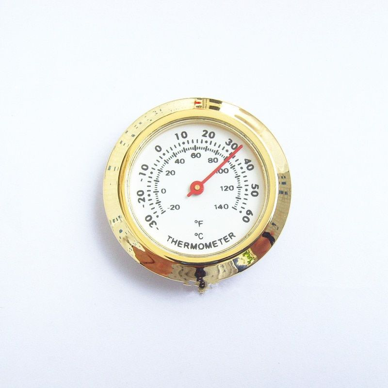 50PCS Cigar box thermometer gift thermometer pointer type hygrometer only color GOLD