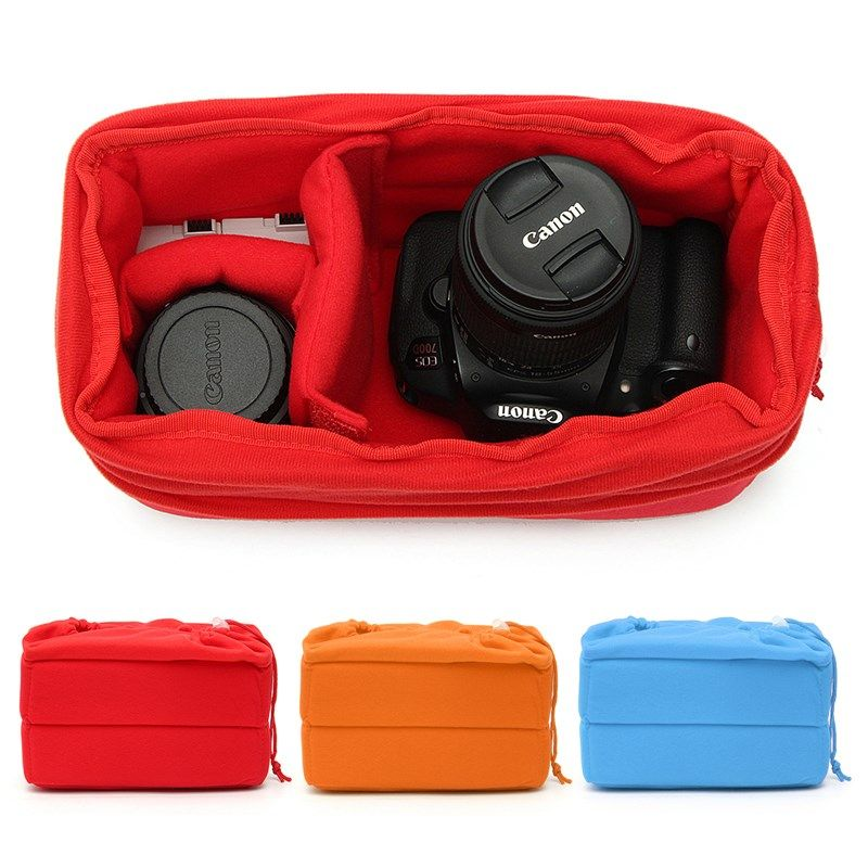 New Arrival Padded Shockproof DSLR SLR Camera Video Insert Bag Polyester Protect Case Pouches For Canon For Nikon For Sony